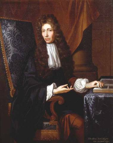 Portrait of Robert Boyle, by Johann Kerseboom